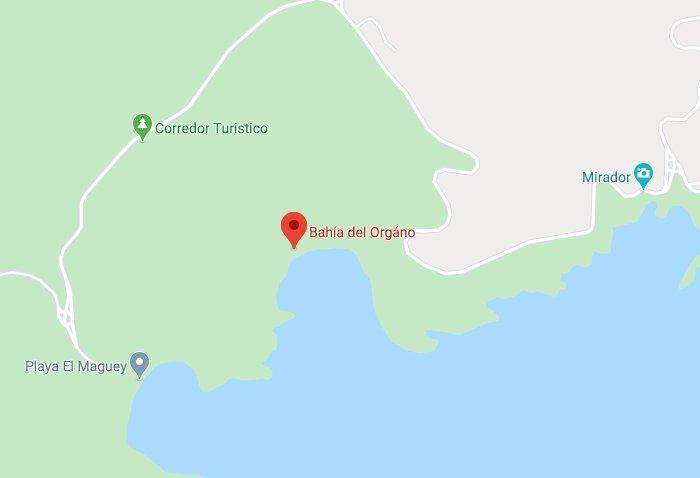 donde se ubica bahía el órgano