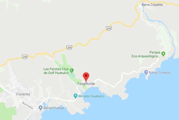 ubicación de la bahía de tangolunda huatulco oaxaca