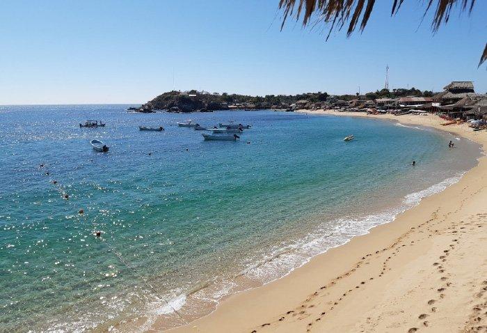 Playas que conforman la bahía san agustín