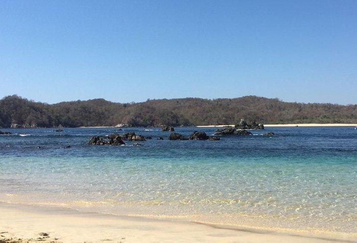 Características de la playa la india