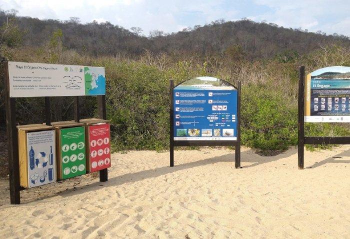 Servicios disponibles en la playa el organo